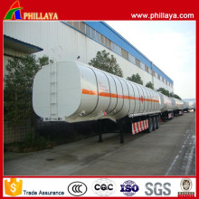Various Capacities Tri Axle Gooseneck Type Stainless Fuel Tanker Trailer