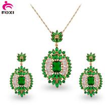 Diseño de moda Brasil estilo hermoso conjunto de joyas de piedra