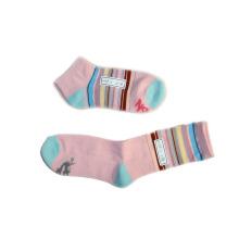 Носки с подкладкой для лодыжки с цветным окрашенным хлопком (fss-08)