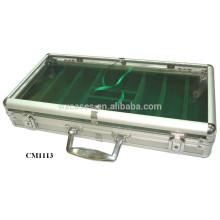 Nueva llegada de Foshan 300 chip acrílico estuche de aluminio