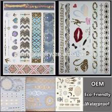 OEM Großhandelskreative Tätowierung / geometrische Formtätowierung / Art und Weisemarken temporäre Tätowierung Aufkleber für Erwachsene QY094