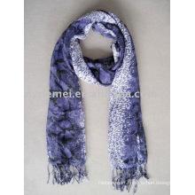 Snake printed viscose pashmina shawl