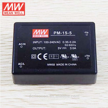 MeanWell Switching Power Supply Medical Type AC/DC Module Encapsulated Type On Board Type 15W 5V Single Output PM-15-5