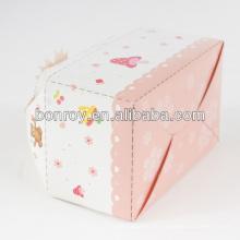 Embalaje de caja de mango de pastel de diseño simple