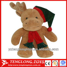 Plüsch Weihnachten Spielzeug und gefüllte Plüsch Elche mit einem Schal und Hut