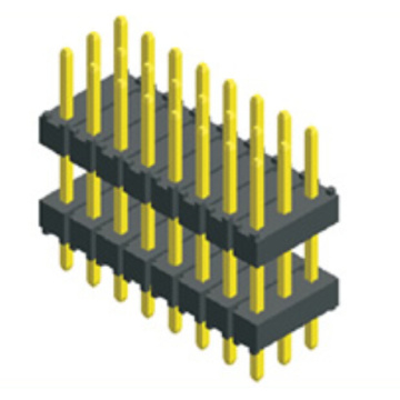 2.54mm Pin Header Three Row Double Plastic Straight