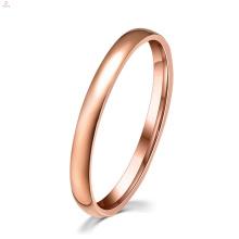 Bague de fiançailles pour femme Bague de fiançailles en or rose midi en acier inoxydable
