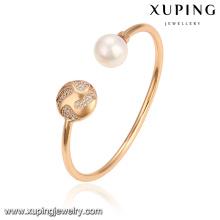 51787 Xuping Schmuck Großhandel Mode Perle Armreif für Damen mit Vergoldet