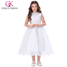 Grace Karin Nice White Long Puffy Lace Evening Dresses For Girls 12 Years Old CL4491-1