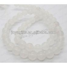 Weiße Marmor Runde Perlen / 4mm / 6mm / 8mm / 10 / mm / 12mm Klasse A