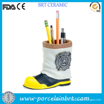 Mini Fireman Boot Керамический детский держатель для карандашей