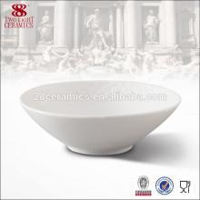 Keramik-Popcorn serviert Schüssel weißes Emaille-Kochgeschirr