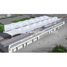 Membrane d'imperméabilisation à l'architecture permanente en PTFE blanc