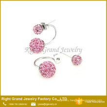 AAA CZ Stone Crystal Clay Paved Stud Earrings