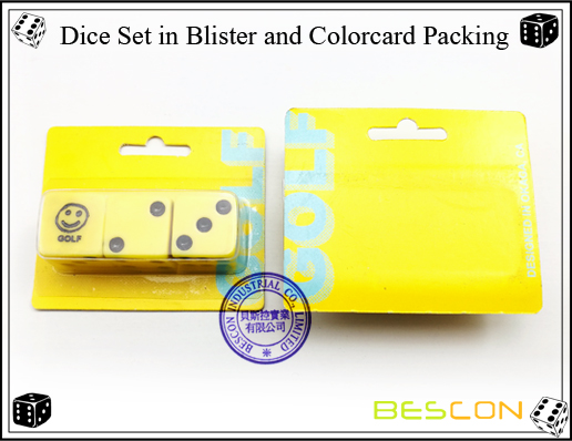 Dice Set in Blister and Colorcard Packing-2
