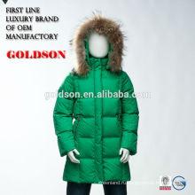 Детская мода вниз пальто с енота меховым