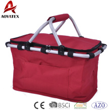 100% polyester 600D oxford fabric foldable 4 person picnic basket