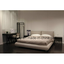 Modern Furniture Bedroom Wooden Leather Bed (A-B42)