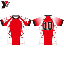 Specialized 100% polyester custom rugby Football jersey wear