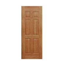 Porte plaquée intérieure à 6 panneaux avec peau moulée HDF