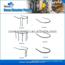 Corrimão panorâmico da cabine do elevador do aço inoxidável do hairline, componentes do elevador