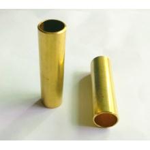Pieza de torneado de precisión con oxidación amarilla dorada,