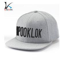 Sombrero de bordado soplo 3d sombrero de snapback de 6 paneles