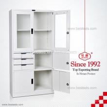 Китайский АСБ распашные двери стальной ящик для хранения шкафчики в Дубае стекло дисплей двери шкафа с регулируемыми полками