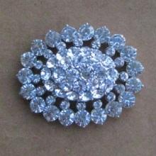 vintage style silver oval fashion rhinestone brooches
