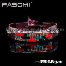 Professional custom high quality fashion leather bracelet 2015