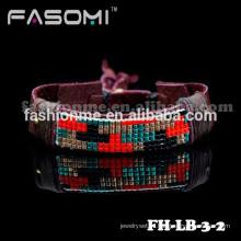 Профессиональных пользовательских высокого качества мода кожаный браслет 2015