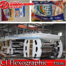 Máquina de impresión flexográfica en rollo en línea Papel impreso / Tela / Tejida / Saco / Película / Plástico