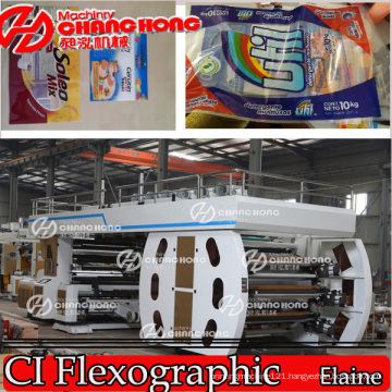 Roll to Roll Online Flexo Printing Machine Printed Paper/Fabric/Woven/Sack/Film/Plastic