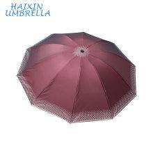 Нигерия дешевые руководство Открытое дамы Господа рынке Индии 3 складной зонтик 10 ребра промо-УФ защиты зонтики для продажи