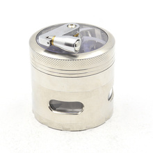 Side opening window hand crank four-layer smoke grinder