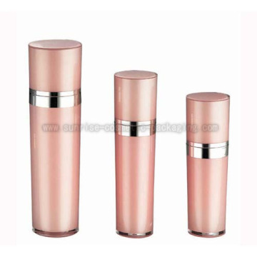 30ml50ml80ml120ml prensa crema acrílico Rosa botella cosmética