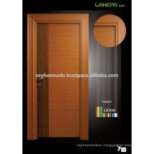 Natural Teak Veneer Door with Classic Wide Architrave