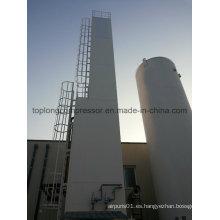 Generador de oxígeno generador de nitrógeno líquido criogénico de 2000 l por hora