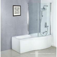 Plus récentes baignoires acryliques blanches pour adultes, baignoire avec douche et écran