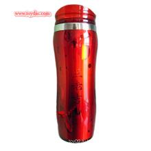 Красный пластиковый термокружок