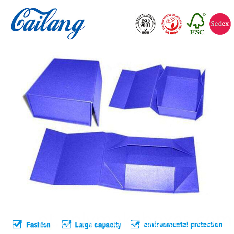 collapsible box with side way folding for clothes packaging