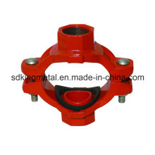 Ductile Iron 300psi NPT Threaded Mechanical Cross