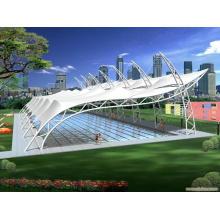 Telhado de vidro moderno quadro de espaço de piscina