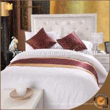300 T / c Paquete de cama de hotel de lujo, juego de sábanas 100% algodón / sábana de cama