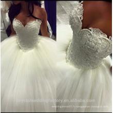 Perles pleines Puff robe de mariée robe de mariée avec sweetheart décolleté 2016 nouvelles robes de mariée CWF2383