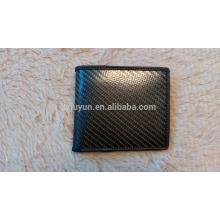 Cartera de lujo de la fibra del carbón Carpeta del cuero genuino