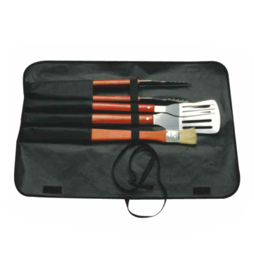 4 stks BBQ-set lange steel