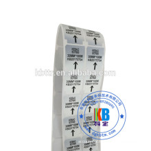 adhesive barcode label sticker type custom blank matt silver PET heat transfer label