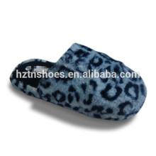 Wholesale import china indoor winter plush slipper,bedroom slippers leopard upper