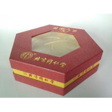 Hexagon Shape Personalized Rigid Gift Boxes, Luxury Food Pa